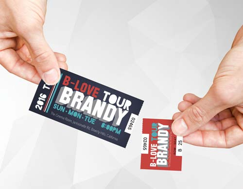 perforated tickets printing