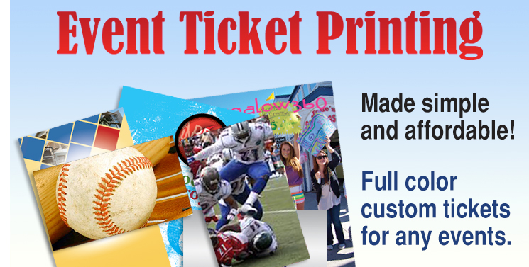 event ticket printing